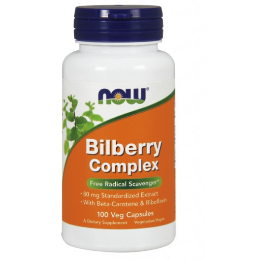 Bilberry Complex 80 mg - 100 Veg Capsules