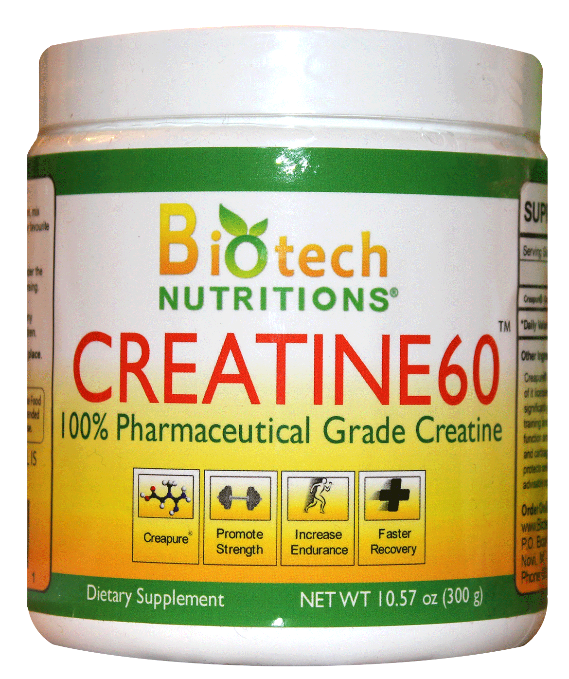 Biotech Nutritions Creatine60 Unflavored 300g 60 Servings