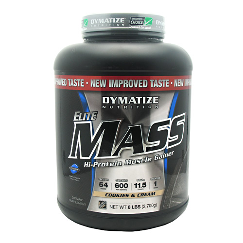 Elite Mass Cookies & Cream 6 lbs
