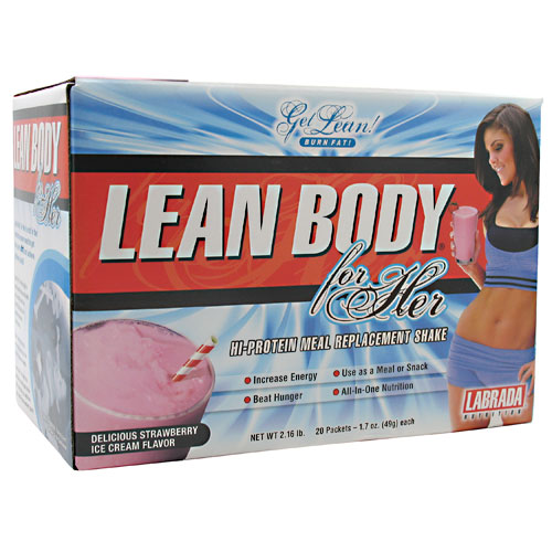 Lean Body for Her Delicious Strawberry Ice Cream 20 Pack