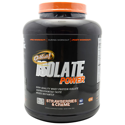 OhYeah! Isolate Power Strawberries & Creme 4 lbs