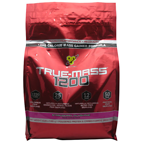 True Mass 1200 Strawberry Milkshake 10.25 lbs
