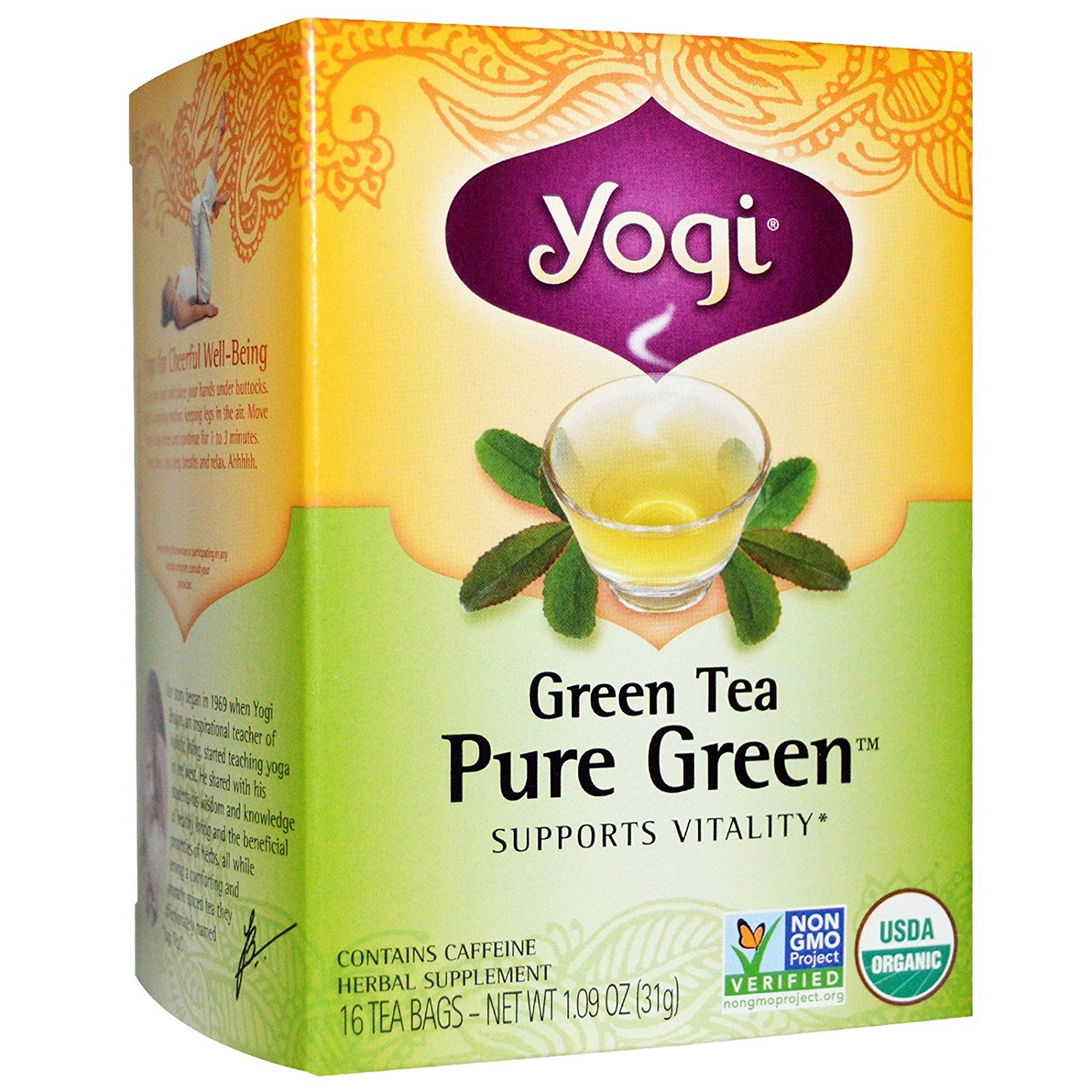 Yogi Green Tea Pure Green 16 Bags