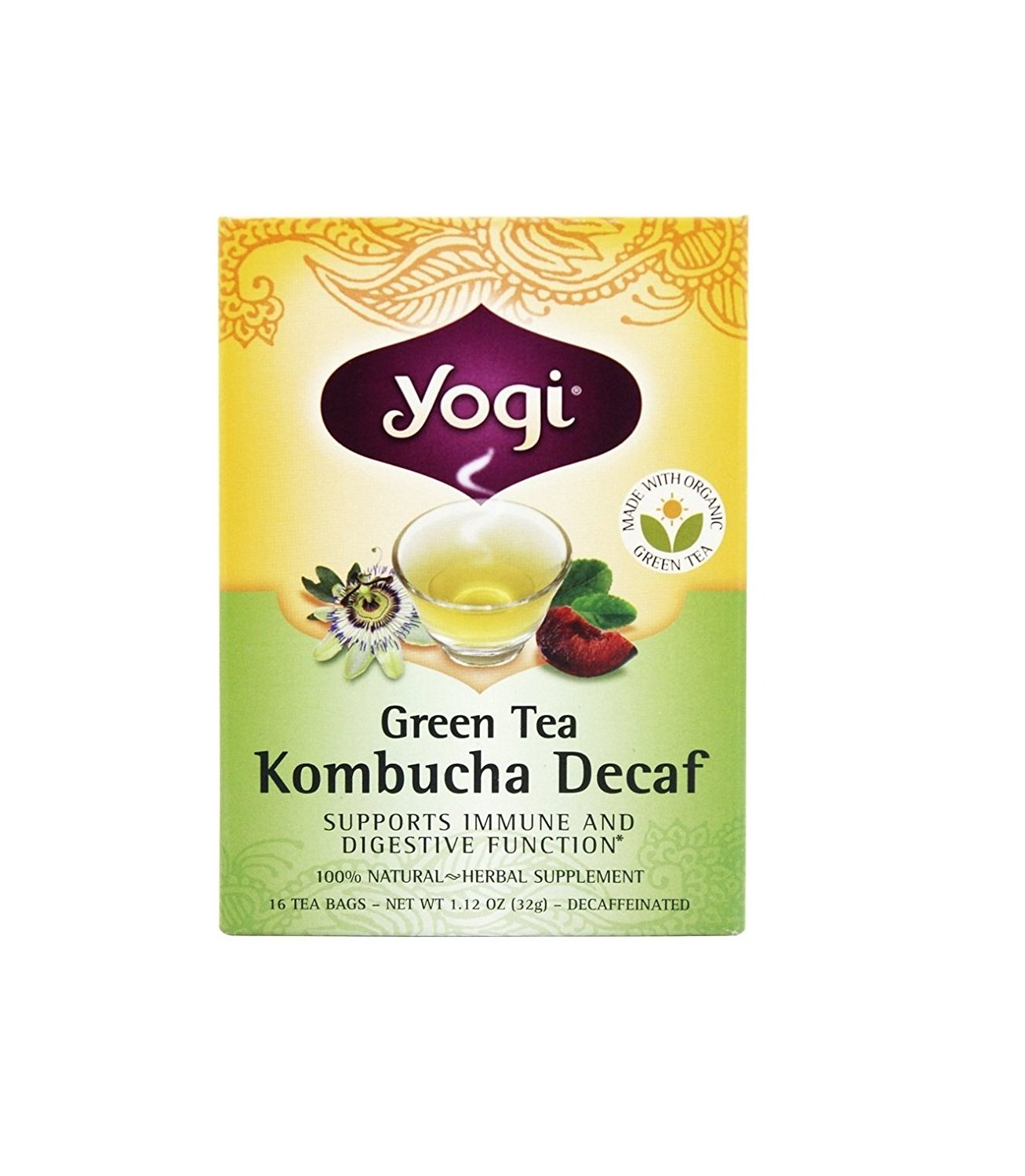 Yogi Kombucha Decaf Green Tea 16 bags