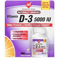 MEMBER'S MARK VITAMIN D-3 5000 IU (400 SOFTGELS)