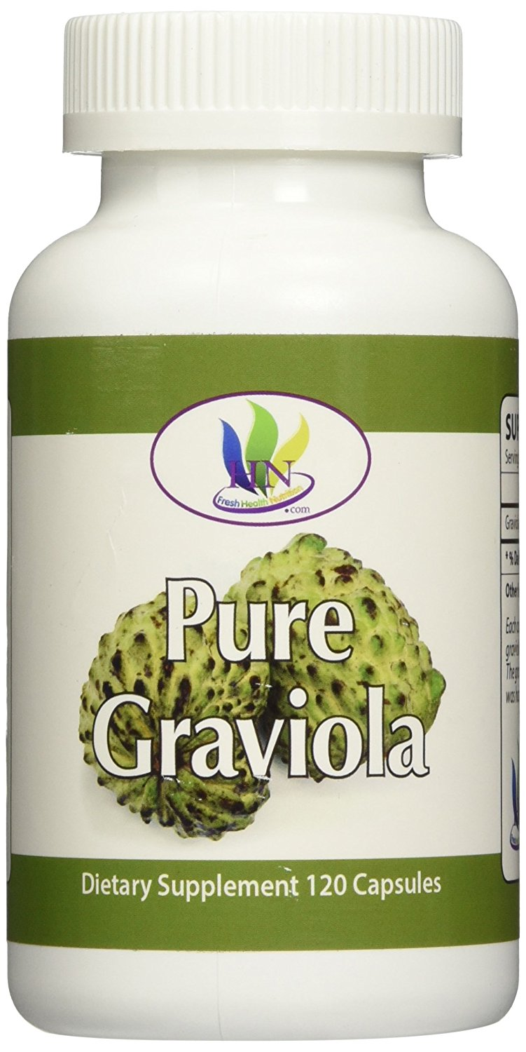 Fresh Health Nutritions Graviola 1300 mg 120 Capsules